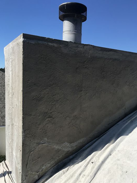 After Chimney Stucco Repair